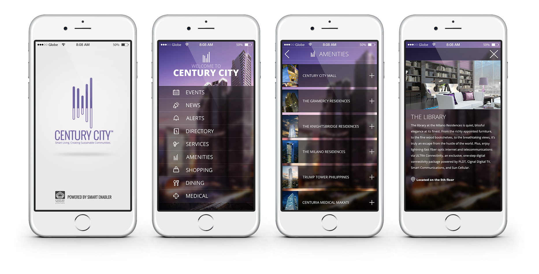 Portfolio Gallery - Century City mobile app