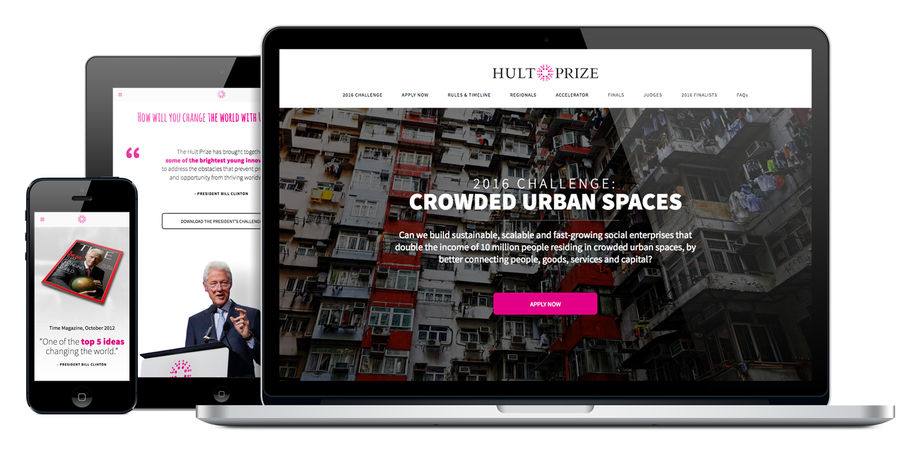 Portfolio Gallery - Hult Prize competition website