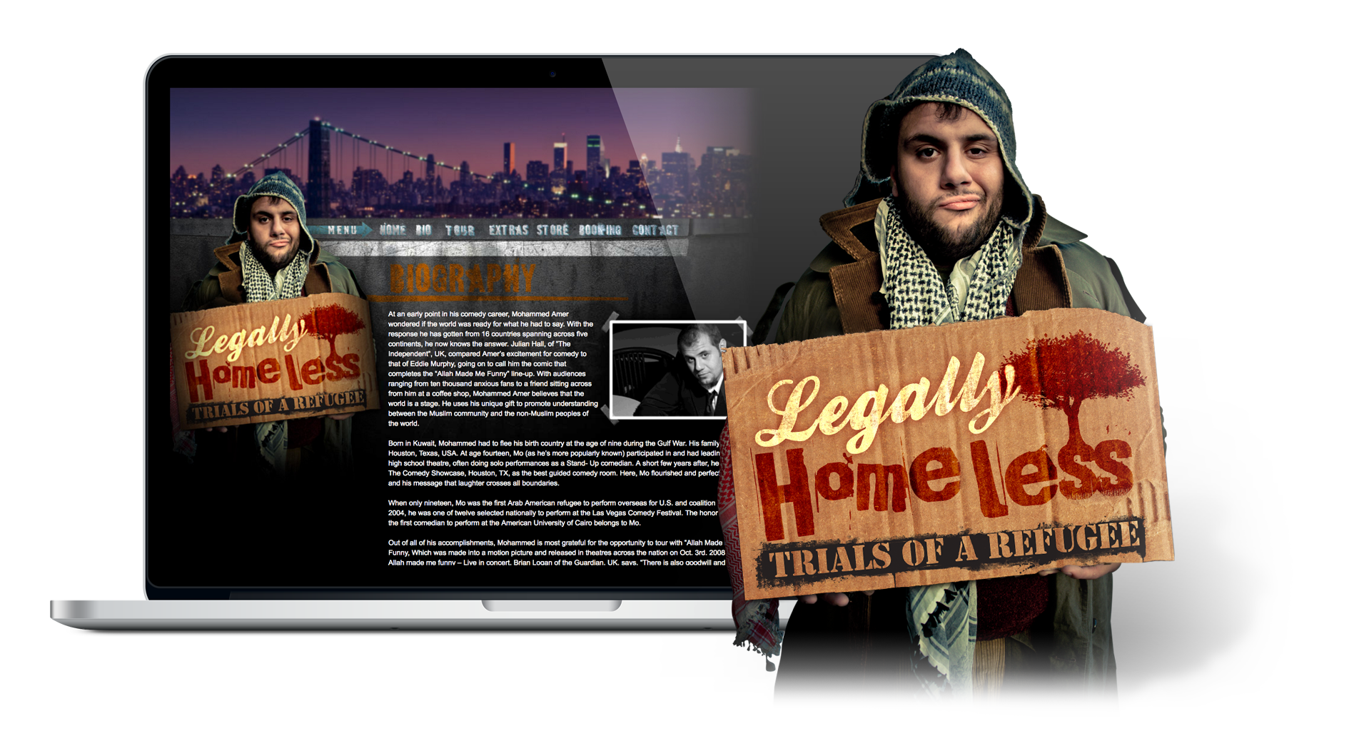 Portfolio Gallery - Legally Homeless website